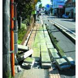 地震で倒れたブロック塀(新潟中越地震)