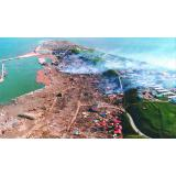 津波と地震後に発生した火災による被害(北海道南西沖地震)