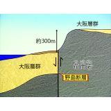 野島断層のずれ