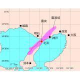 兵庫県南部地震の震央と地表へ投影した震源域