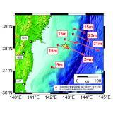 東北地方太平洋沖地震に伴う海底地殻変動