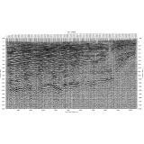 弾性波探査の結果例