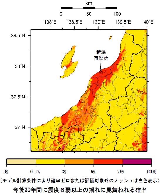 確率論的地震動予測地図(新潟県)