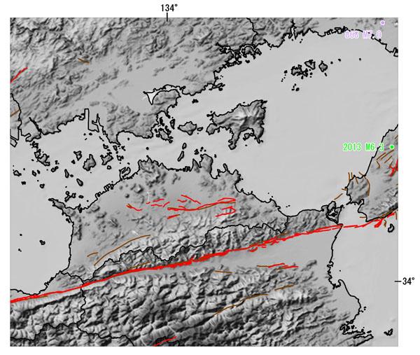 香川県とその周辺の主な被害地震