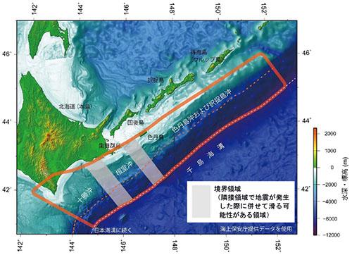 千島海溝沿いの評価対象領域