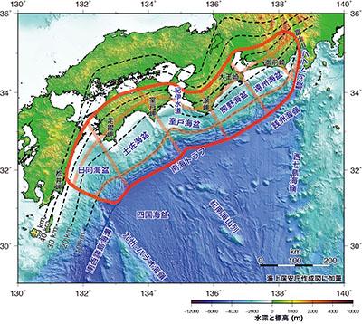 南海トラフの評価対象領域