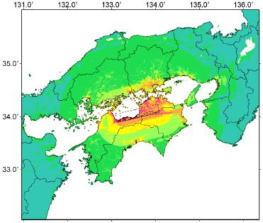 中央構造線断層帯(金剛山地東縁-由布院)